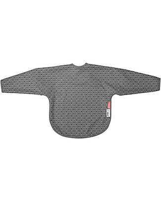 Done By Deer Sleeved Bib - Balloon - Grey - Suitable from Birth Snap Bibs