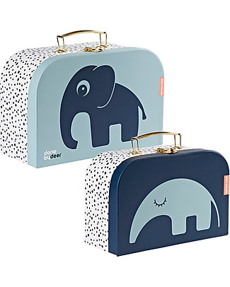 Done By Deer Suitcase Set - 2 Pcs - Blue Travel Bags