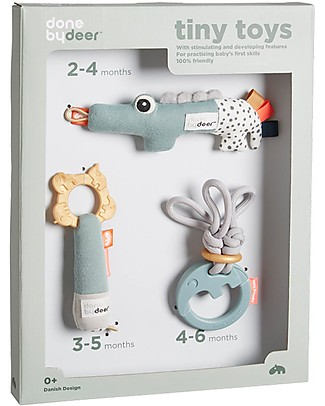 Done by Deer Tiny Tropics Tiny Activity Toys - Gift Set - Suitable from Birth Stroller Accessories