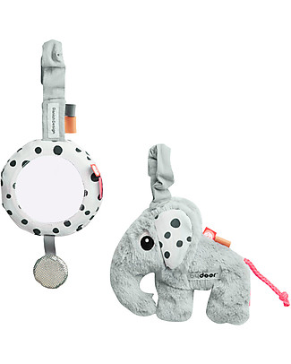 Done By Deer To Go Activity Set - Grey - Suitable from Birth Baby Gym