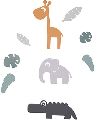 Done By Deer Wall Stickers Tiny Tropics - PVC Free Wall Stickers
