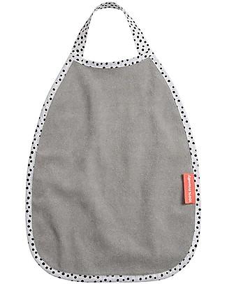 Done By Deer Waterproof Pullover Terry Bib - Happy Dots - Grey - Suitable from Birth Waterproof Bibs
