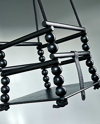Done By Deer Wooden Swing, Black Traditional Toys