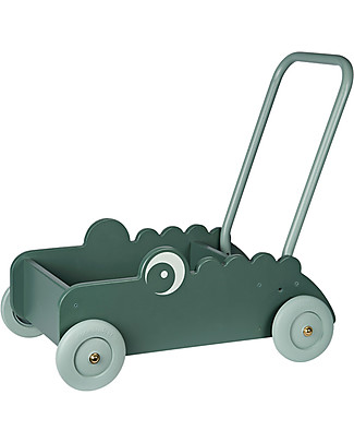 Done By Deer Wooden Walker Croco, Green Wooden Push & Pull Toys