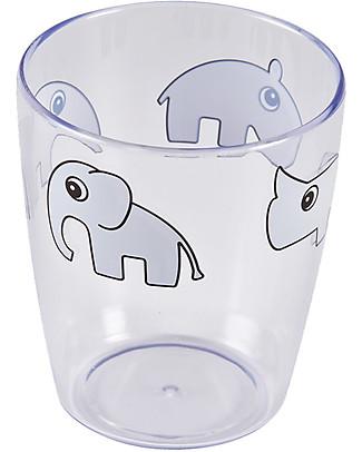 Done By Deer Yummy Mini Glass Deer Friends, Grey - 120 ml Cups & Beakers