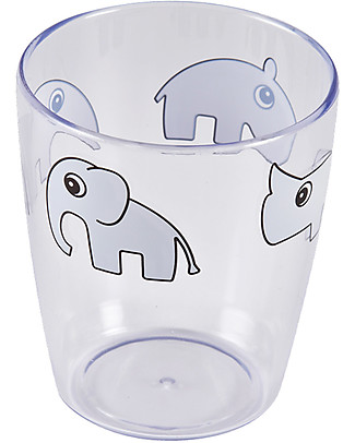 Done By Deer Yummy Mini Glass - Deer Friends - Grey - Suitable from Birth Cups & Beakers