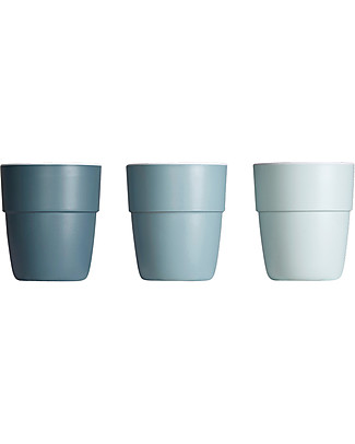 Done By Deer Yummy Mini Mug - 3-Pack - Blue Tones - Suitable from Birth Cups & Beakers