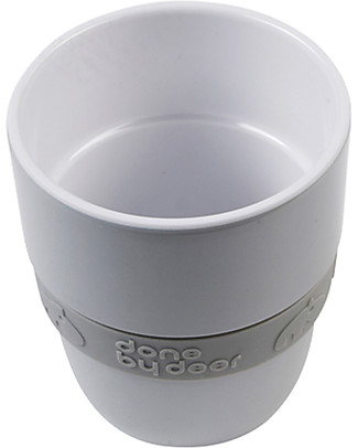 Done By Deer Yummy Mug Elphee 240 ml, Grey - Easy to grab, with silicone belt Cups & Beakers