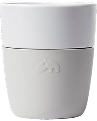 Done By Deer Yummyplus Easy Grip Cup Elphee 160 ml, Grey - Melamine and silicone Cups & Beakers