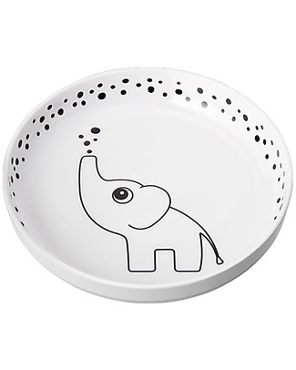 Done By Deer Yummyplus Plate - Elphee - Grey - Suitable from Birth Bowls & Plates