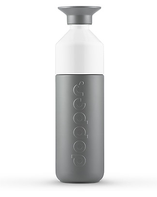 Dopper Dopper Insulated Bottle  in Stainless Steel, Glacier Grey - 580 ml- BPA and phthalate free! Thermos Bottles