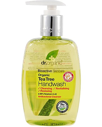 Dr.Organic Antibacterical Liquid Soap for Hands, 250 ml - Tea Tree Detergents