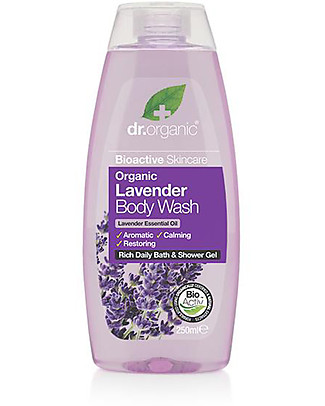 Dr.Organic Lavender Body Wash, 250 ml - Calm, Balance and Illuminate Shampoos And Baby Bath Wash