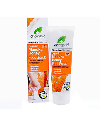 Dr.Organic Manuka Honey Foot scrub, 125 ml - Buff away Callouses and dead Skin Cells Shampoos And Bath Wash