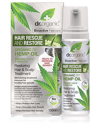Dr.Organic Organic Hemp Oil Hair Scalp Treatment, 150 ml - Stimulate Hair Growth Shampoos And Baby Bath Wash