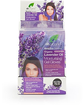 Dr.Organic Organic Lavender Moisturizing Gel Gloves - Revitalise and Hydrate Hands Body Lotions And Oils