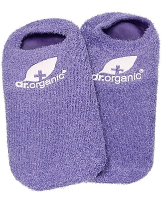 Dr.Organic Organic Lavender Moisturizing Gel Socks - Revitalise and Hydrate Feet Body Lotions And Oils