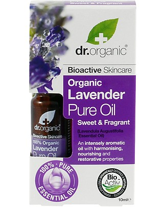 Dr.Organic Organic Lavender Pure Oil, 10 ml - Relax and Invigorate Body Lotions And Oils