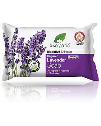 Dr.Organic Organic Lavender Soap, 100 gr - Pelle Sana e Fresca Detergents