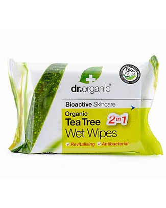 Dr.Organic Organic Tea Tree Wet Wipes – 20 pieces Baby Wipes