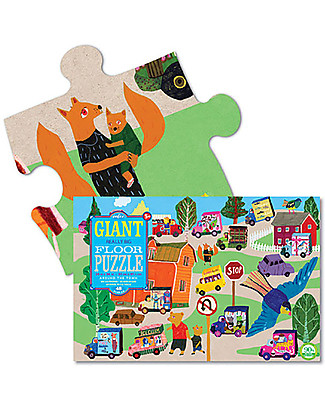 eeBoo Giant Puzzle, Around The Town - 61 x 91.5 cm - 48 big pieces! Puzzles