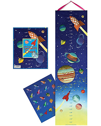 eeBoo Outer Space Growth Chart - With 22 stickers! Science and Nature