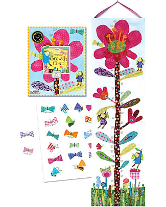 eeBoo Sunflower Growth Chart – With 22 stickers! Science and Nature