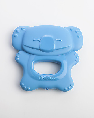 eKoala eKolly - Blue Teether - Natural Bioplastic, 100% Biodegradable, Made in Italy Dummies & Soothers