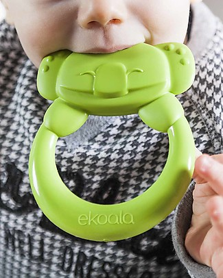 eKoala eKummy - Green Ring Teether - Natural Bioplastic, 100% Biodegradable, Made in Italy Dummies & Soothers