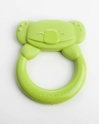 eKoala eKummy - Green Ring Teether - Natural Bioplastic, 100% Biodegradable, Made in Italy Dummies & Soothers
