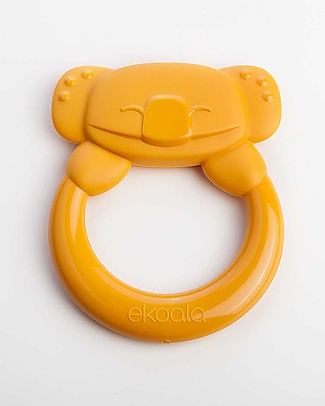 eKoala eKummy - Orange Ring Teether - Natural Bioplastic, 100% Biodegradable, Made in Italy Dummies & Soothers