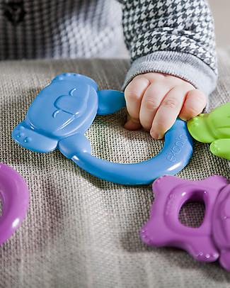 eKoala eKummy - Ring Teether Azzurro - Natural Bioplastic, 100% Biodegradable, Made in Italy Dummies & Soothers