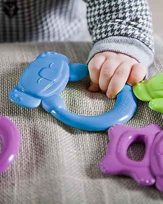 eKoala eKummy - Ring Teether Azzurro - Natural Bioplastic, 100% Biodegradable, Made in Italy Dummies & Soothers