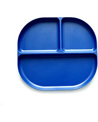 Ekobo Bambino Divided Tray in Bamboo fibre, Royal blue - Durable and Eco-friendly Bowls & Plates
