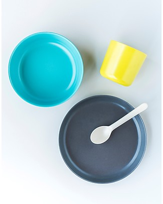Ekobo Bambino Kid Set: Cup, Bowl, Plate and Spoon - Complete and Eco-Friendly Meal Sets