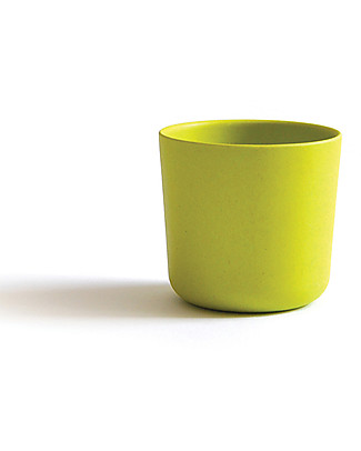Ekobo Bambino Small Cup in Bamboo Fibre, Lime - Suitable for small Hands Cups & Beakers