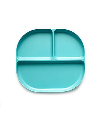 Ekobo Divided Tray in Bamboo fibre, Lagoon - Durable and Eco-friendly Bowls & Plates