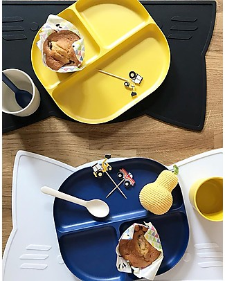 Ekobo Divided Tray in Bamboo fibre, Royal blue - Durable and Eco-friendly Bowls & Plates