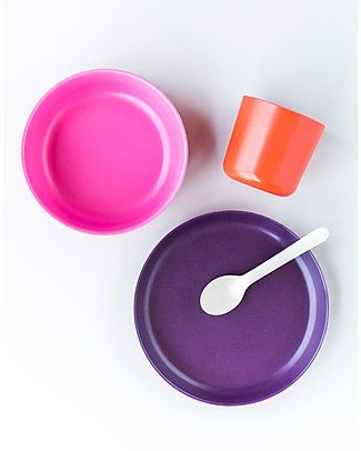 Ekobo Kid Set: Cup, Bowl, Plate and Spoon - Complete and Eco-Friendly Meal Sets