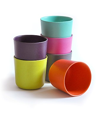 Ekobo Kids Small Cup in Bamboo Fibre, Lagoon - Suitable for small Hands null