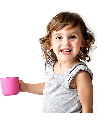 Ekobo Kids Small Cup in Bamboo Fibre, Rose - Suitable for small Hands Cups & Beakers
