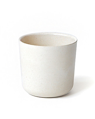Ekobo Kids Small Cup in Bamboo Fibre, White - Suitable for small Hands Cups & Beakers