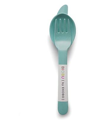 Ekobo Trio Cutlery Set: Fork, Spoon and Knife, Lagoon - Eco-Friendly Spoons, Cutlery & Chopsticks
