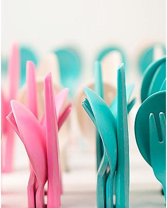 Ekobo Trio Cutlery Set: Fork, Spoon and Knife, Rose - Eco-Friendly Spoons, Cutlery & Chopsticks