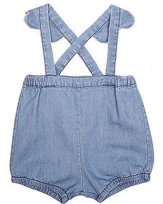 Emile et Ida Baby Dungarees, Chambray – 100% cotton Shorts
