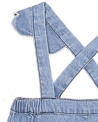Emile et Ida Baby Dungarees, Chambray – 100% cotton Shorts