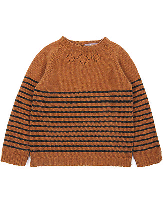 Emile et Ida Baby Jumper, Brown - Wool and cashmere blend Jumpers