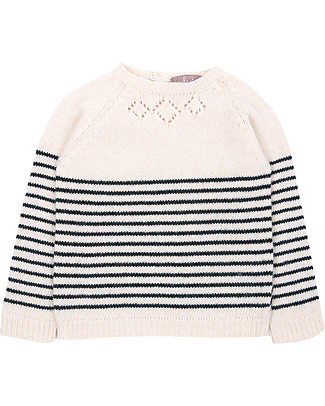 Emile et Ida Baby Jumper, Cream - Wool and cashmere blend Jumpers
