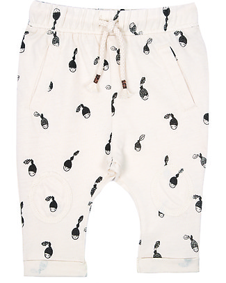 Emile et Ida Baby Trouser Acorn, Ecru - 100% cotton jersey Trousers
