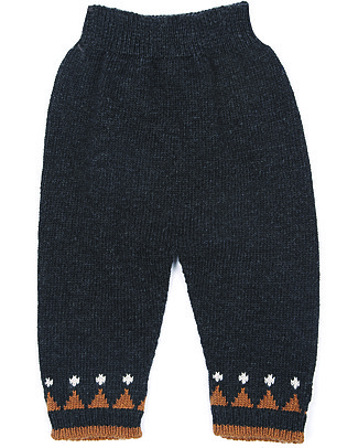 Emile et Ida Baby Trouser Orage, Navy - Wool and cashmere blend Trousers